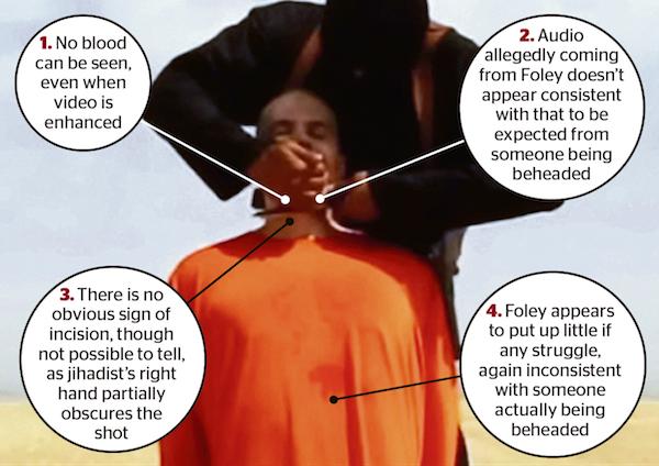 تصویری كه نشان میدهد داعش خبرنگار آمریكایی را نكشته است