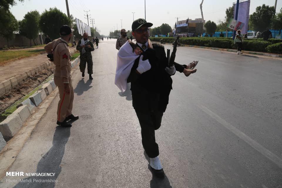 شجاعت پاسدار اهوازی هنگام حمله تروریستی