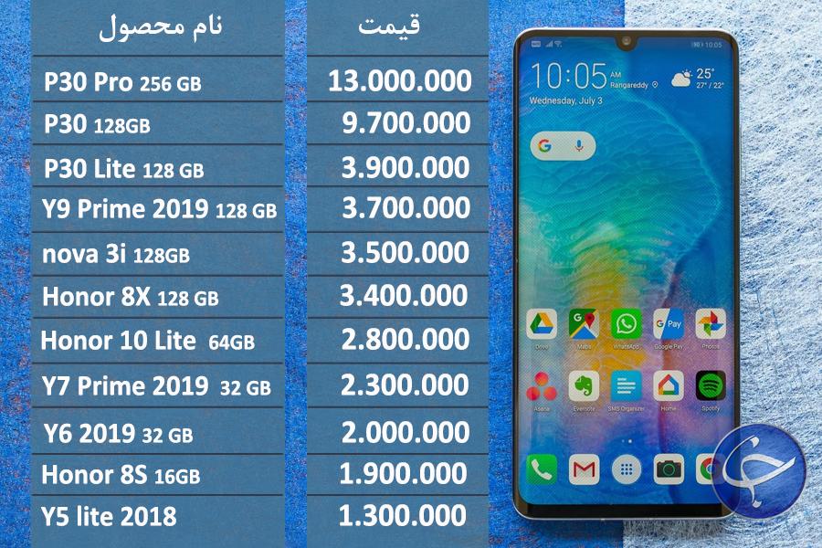 قیمت موبایل هوآوی