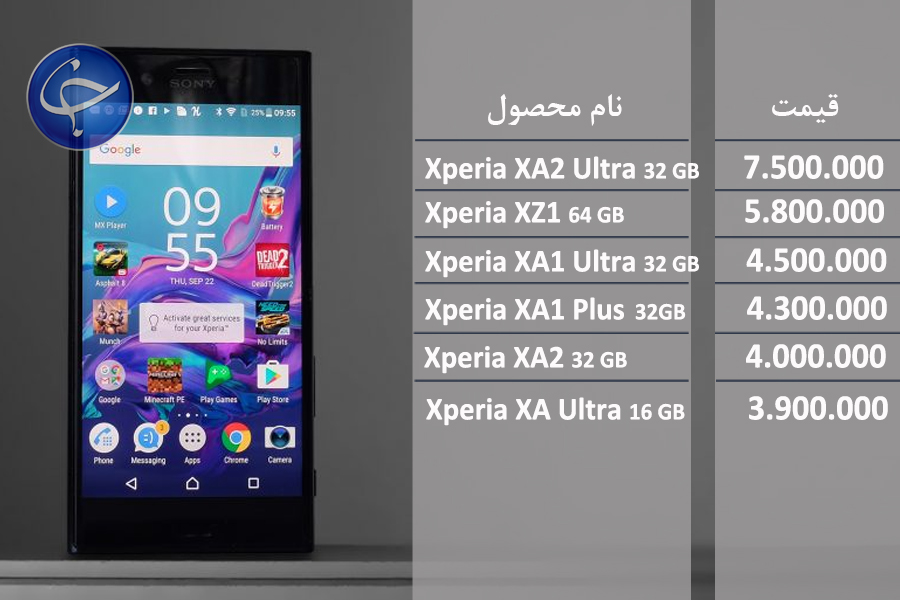 قیمت موبایل سونی