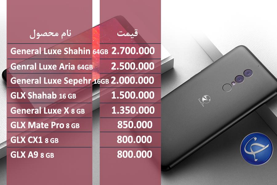 قیمت موبایل جی ال ایکس